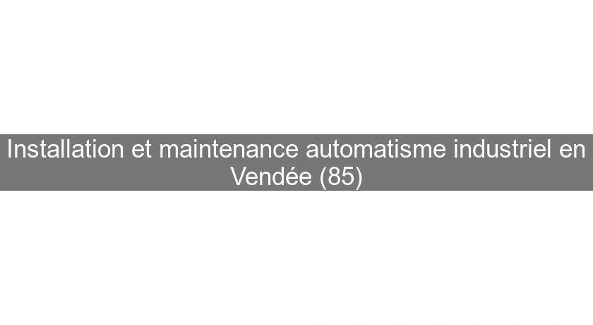 Installation et maintenance automatisme industriel en Vendée (85)