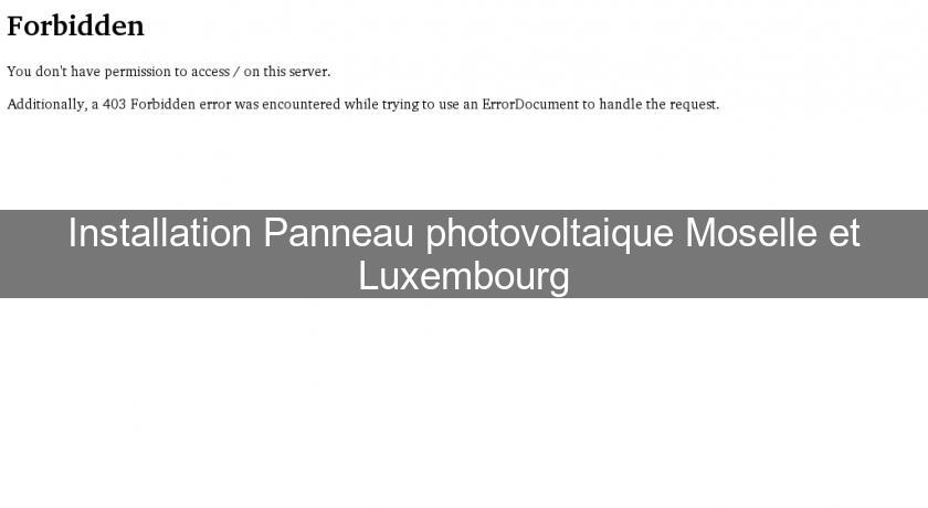 Installation Panneau photovoltaique Moselle et Luxembourg
