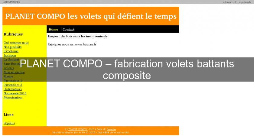 PLANET COMPO – fabrication volets battants composite