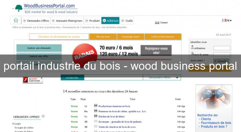portail industrie du bois - wood business portal