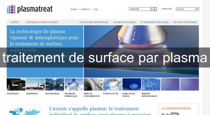 traitement de surface par plasma
