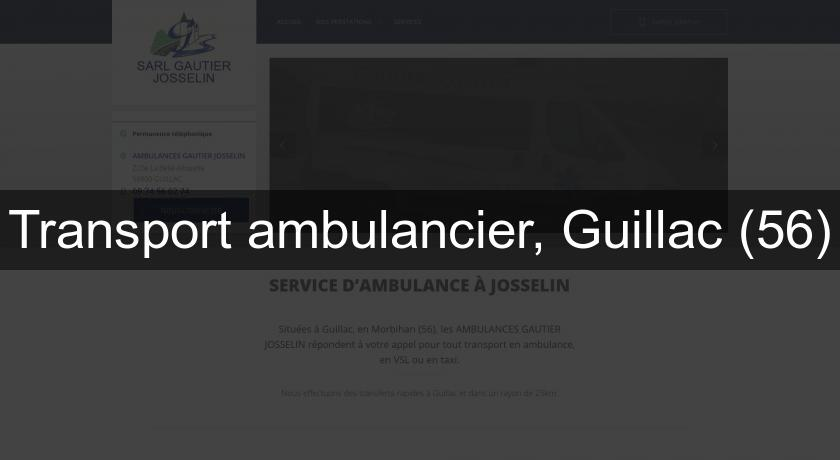 Transport ambulancier, Guillac (56)