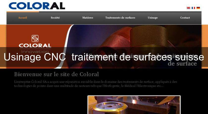 Usinage CNC  traitement de surfaces suisse