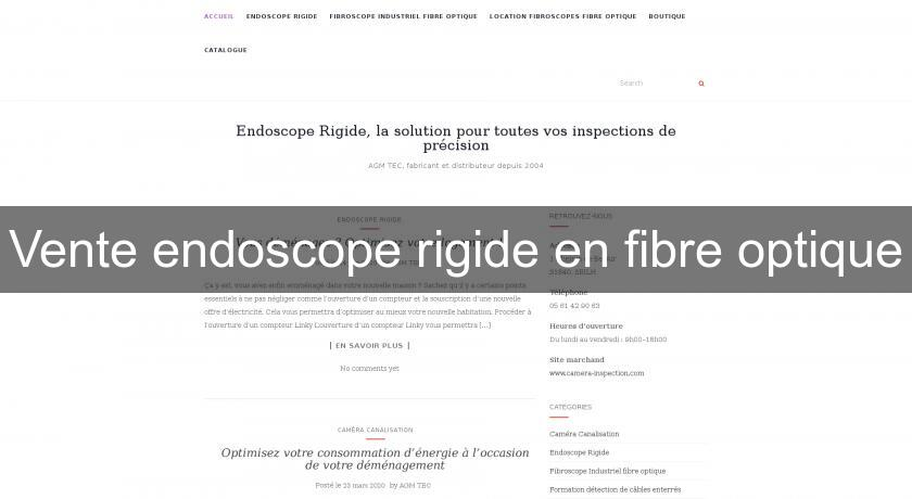 Vente endoscope rigide en fibre optique