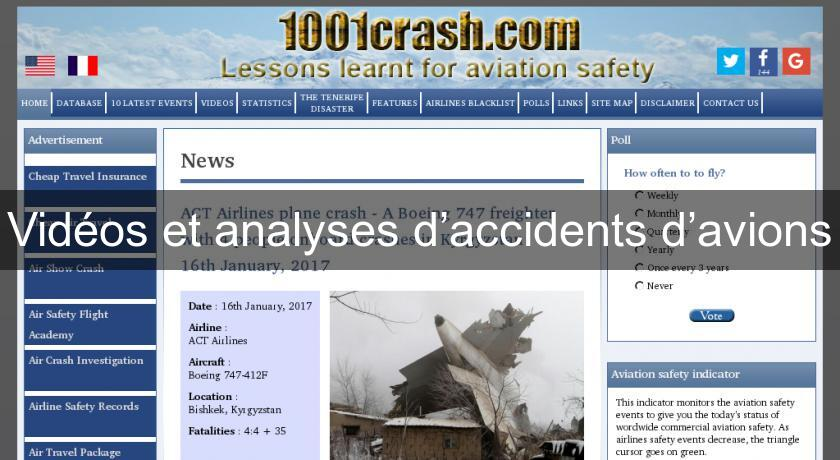 Vidéos et analyses d'accidents d'avions