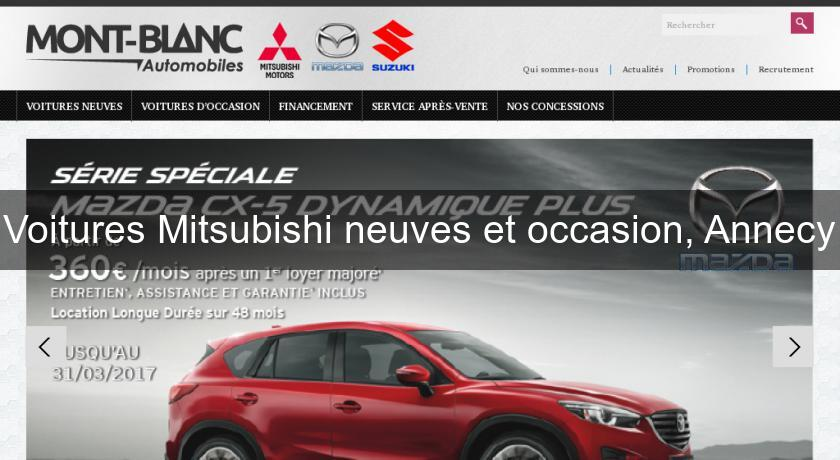 Voitures Mitsubishi neuves et occasion, Annecy