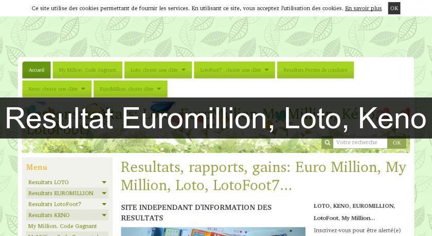 Resultat loto million