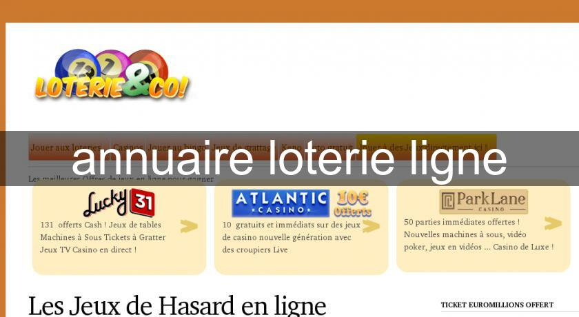 annuaire loterie ligne