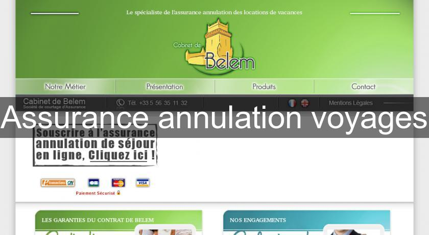 Assurance annulation voyages