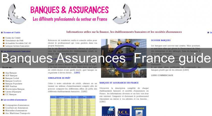 Banques Assurances  France guide