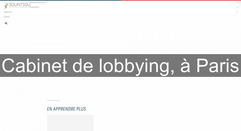 Cabinet de lobbying, à Paris