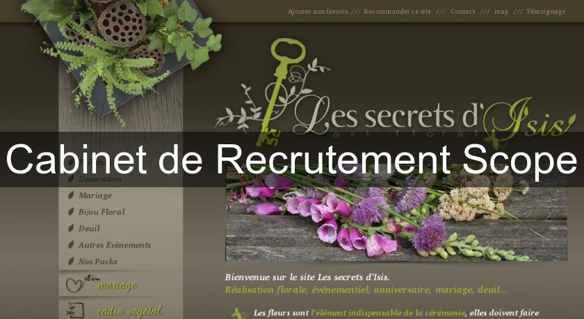 Cabinet de Recrutement Scope