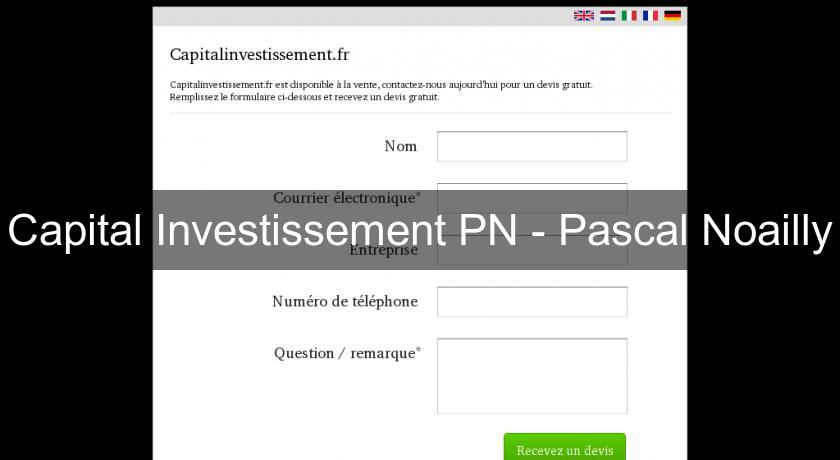 Capital Investissement PN - Pascal Noailly