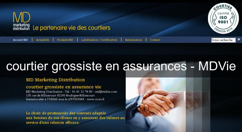 courtier grossiste en assurances - MDVie