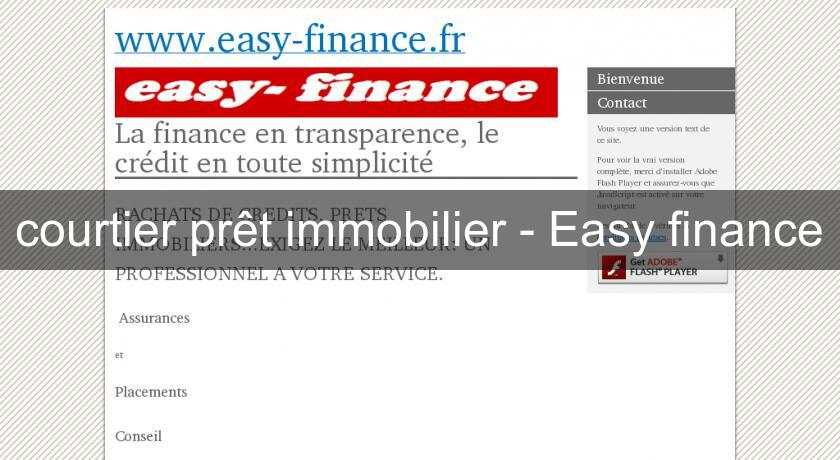 courtier prêt immobilier - Easy finance