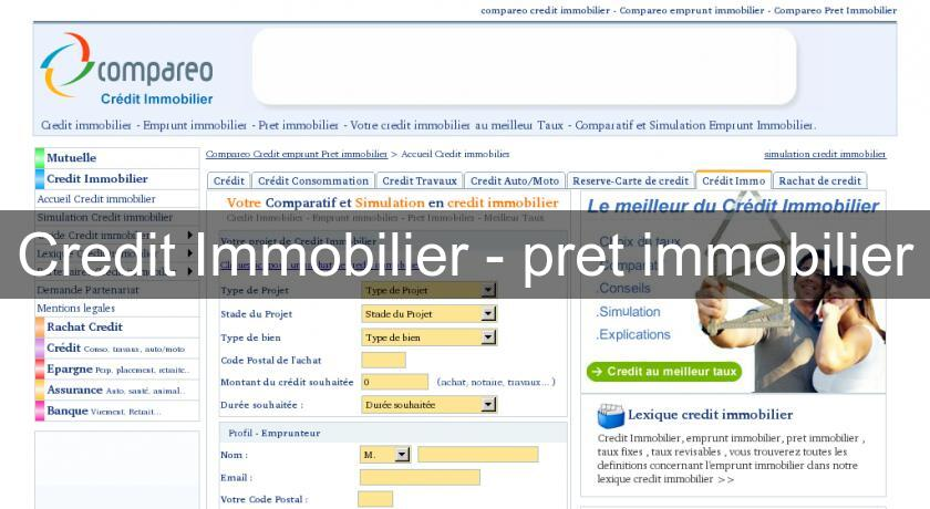 Credit Immobilier - pret immobilier