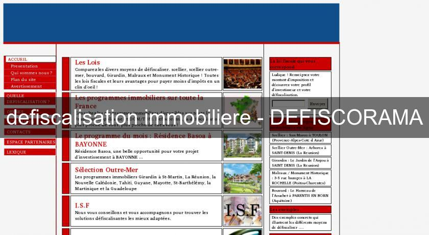 defiscalisation immobiliere - DEFISCORAMA