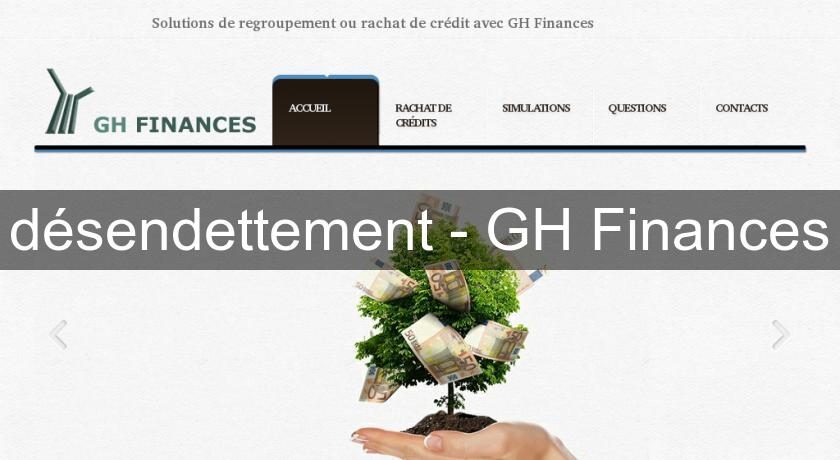 désendettement - GH Finances