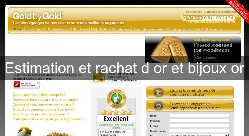 Estimation et rachat d'or et bijoux or