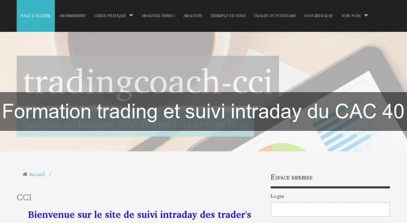 Formation trading et suivi intraday du CAC 40