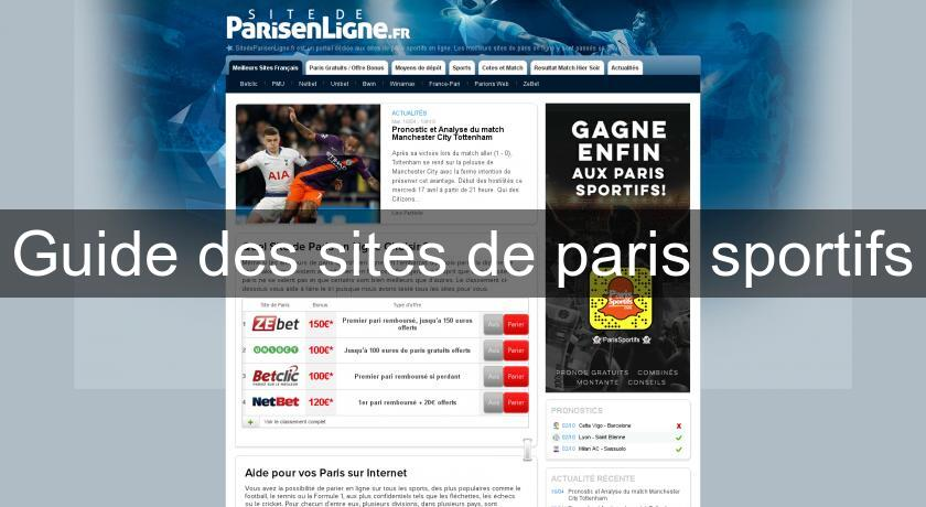 Guide des sites de paris sportifs