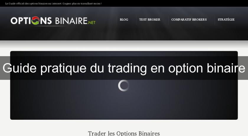 Guide pratique du trading en option binaire