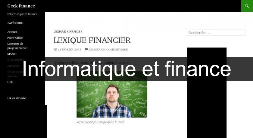 Informatique et finance