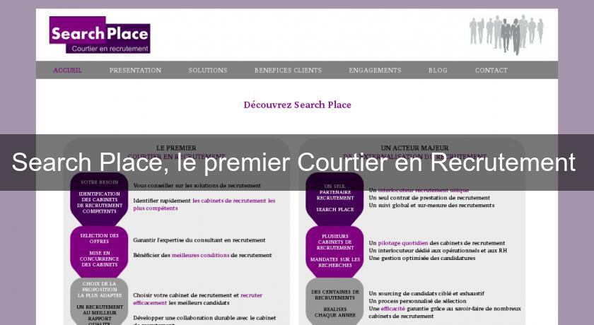 Search Place, le premier Courtier en Recrutement