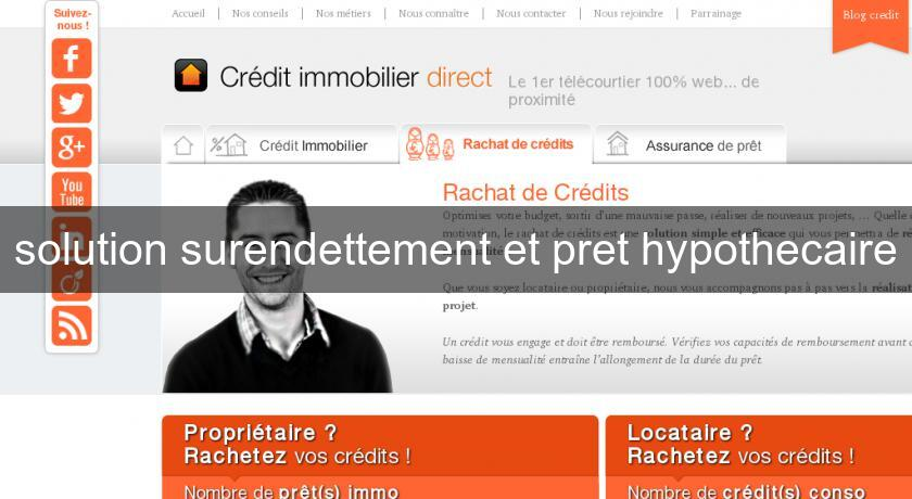 solution surendettement et pret hypothecaire