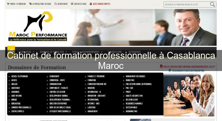 cabinet de formation professionnelle 224 casablanca maroc formation professionnelle