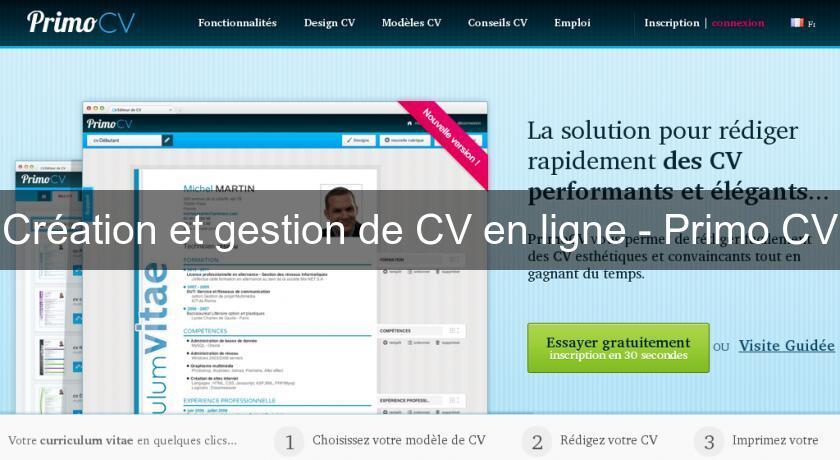 cr u00e9ation et gestion de cv en ligne