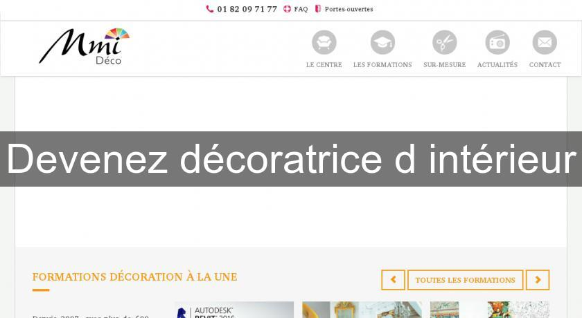 Devenez d coratrice d 39 int rieur formation professionnelle for Decoratrice d interieur formation