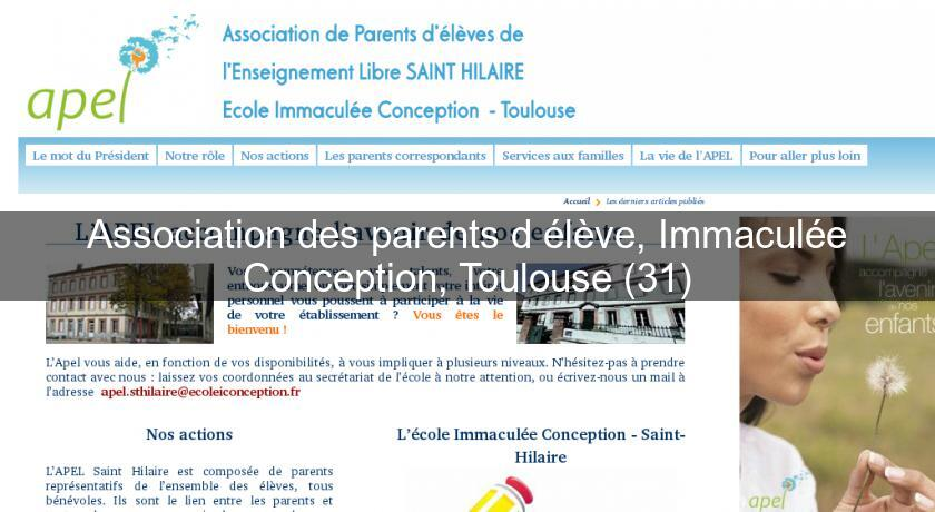 Association des parents d'élève, Immaculée Conception, Toulouse (31)