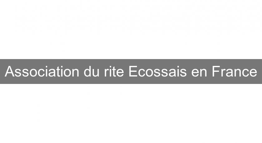 Association du rite Ecossais en France