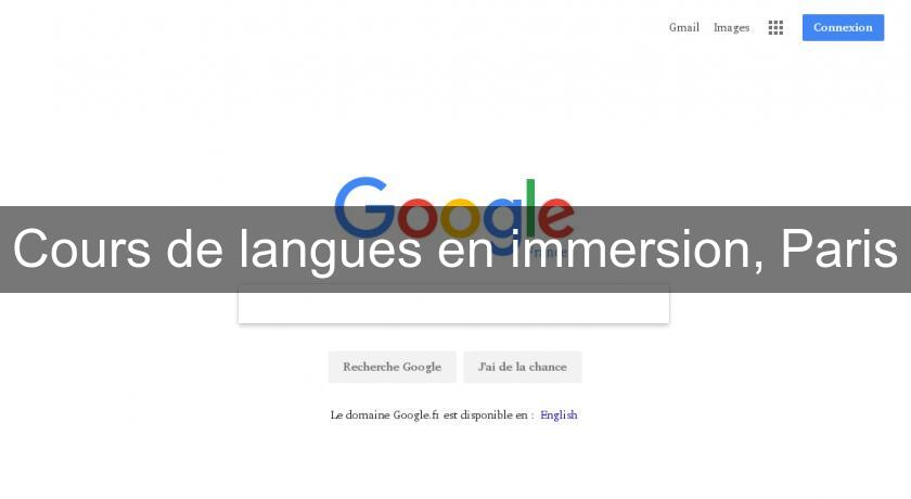 Cours de langues en immersion, Paris