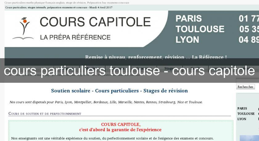 cours particuliers toulouse - cours capitole