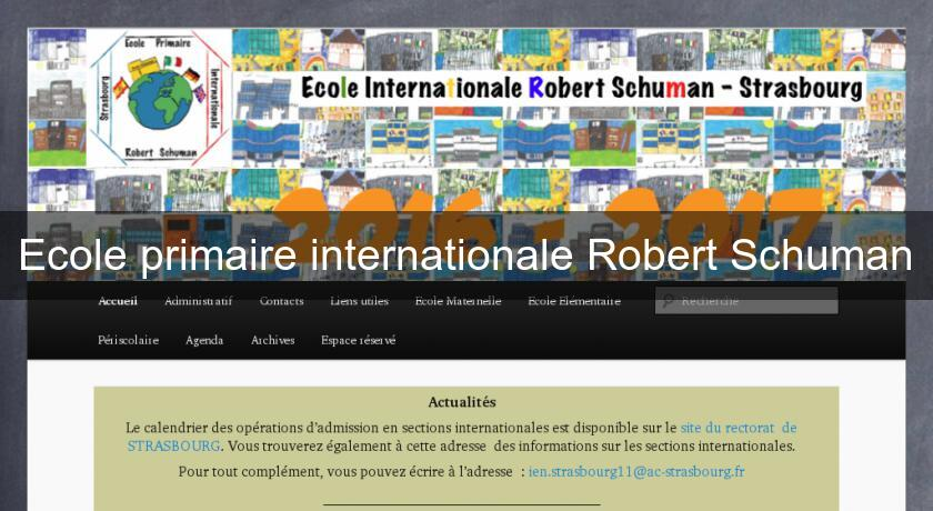 Ecole primaire internationale Robert Schuman