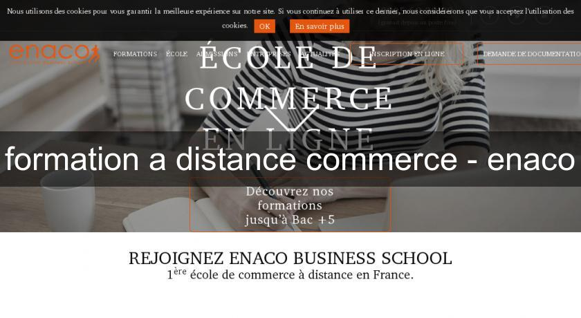 formation a distance commerce - enaco