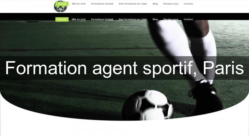 Formation agent sportif, Paris