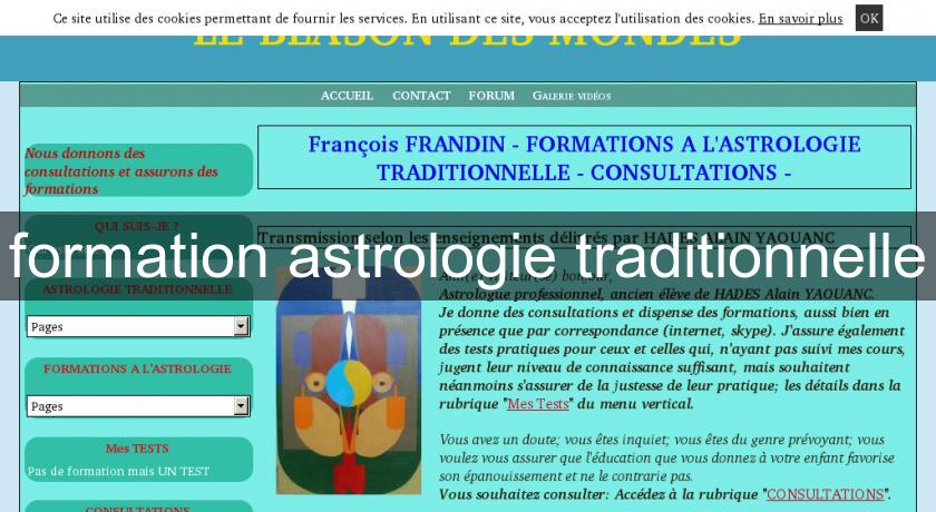formation astrologie traditionnelle