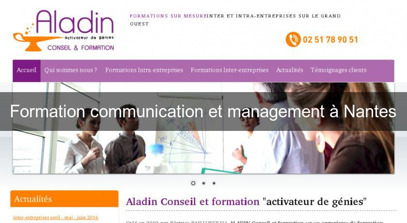 Formation communication et management à Nantes