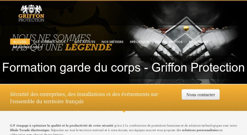 Formation garde du corps - Griffon Protection