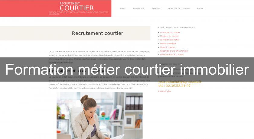 Formation métier courtier immobilier