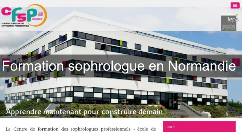 Formation sophrologue en Normandie