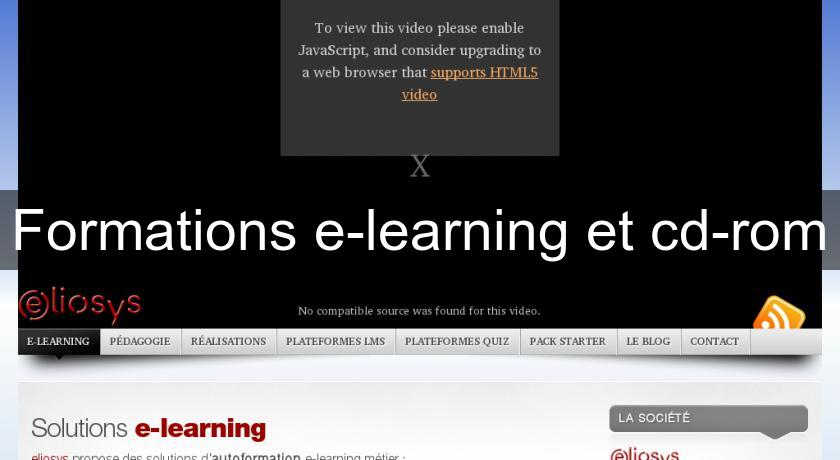Formations e-learning et cd-rom