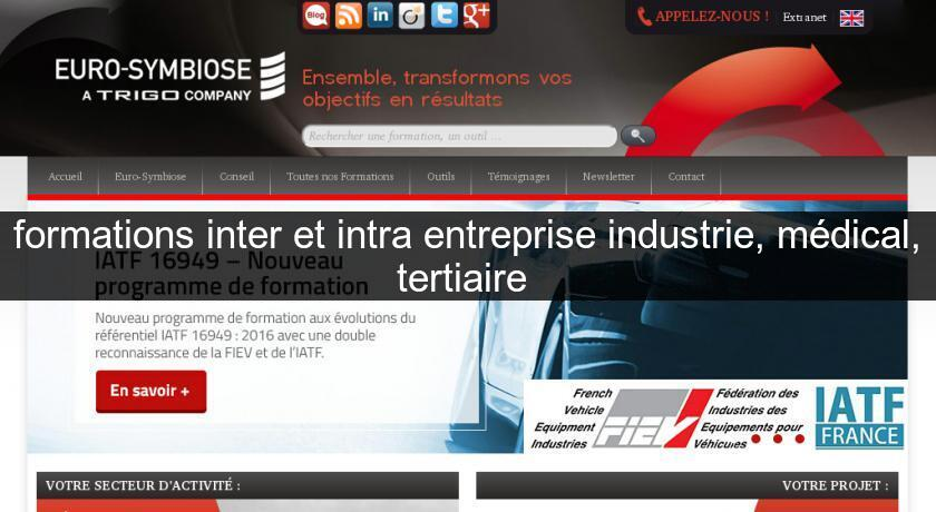 formations inter et intra entreprise industrie, médical, tertiaire