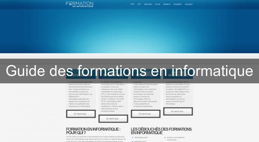 Guide des formations en informatique