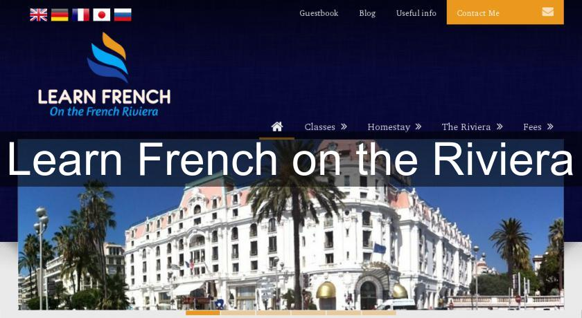 Learn French on the Riviera