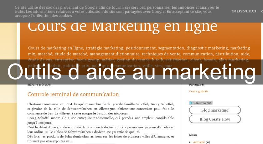 Outils d'aide au marketing