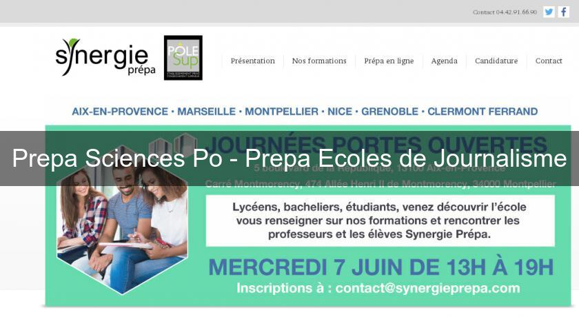 Prepa Sciences Po - Prepa Ecoles de Journalisme